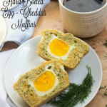 gluten free hard boiled egg and cheddar muffins