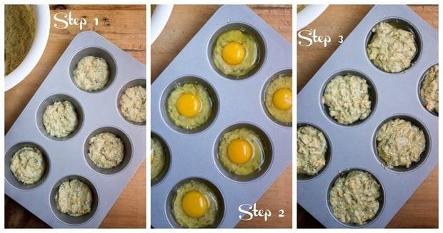 how to make hard boiled egg muffins