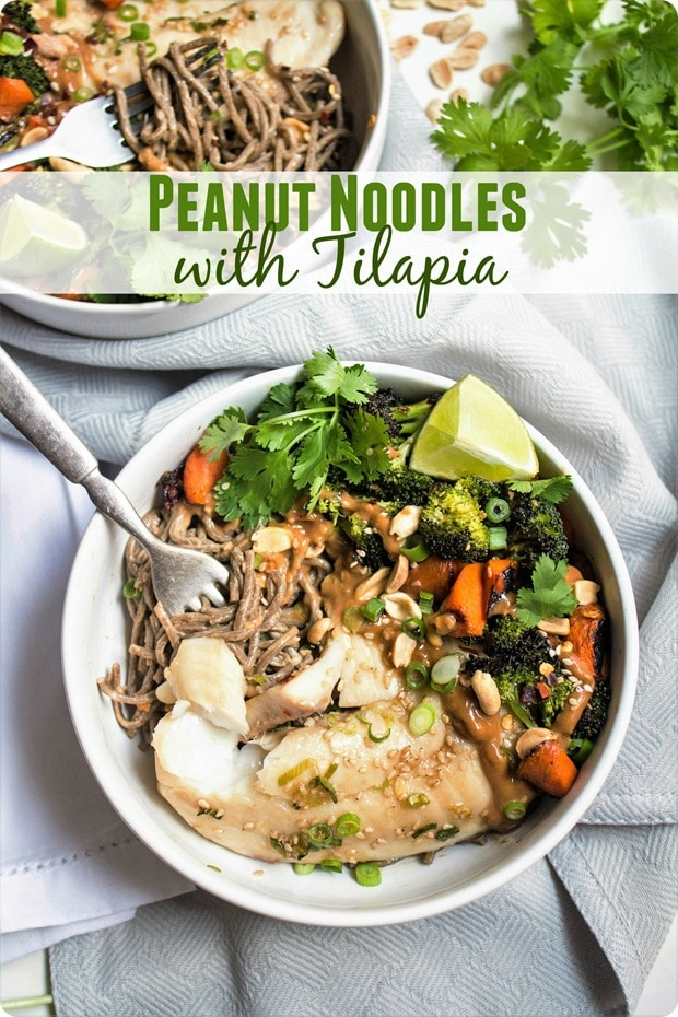 peanut noodles with tilapia