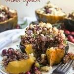 Savory Cranberry Stuffed Acorn Squash
