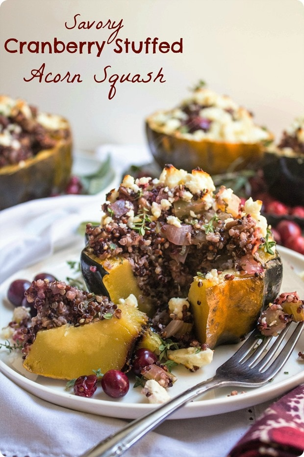 savory cranberry stuffed acorn squash recipe