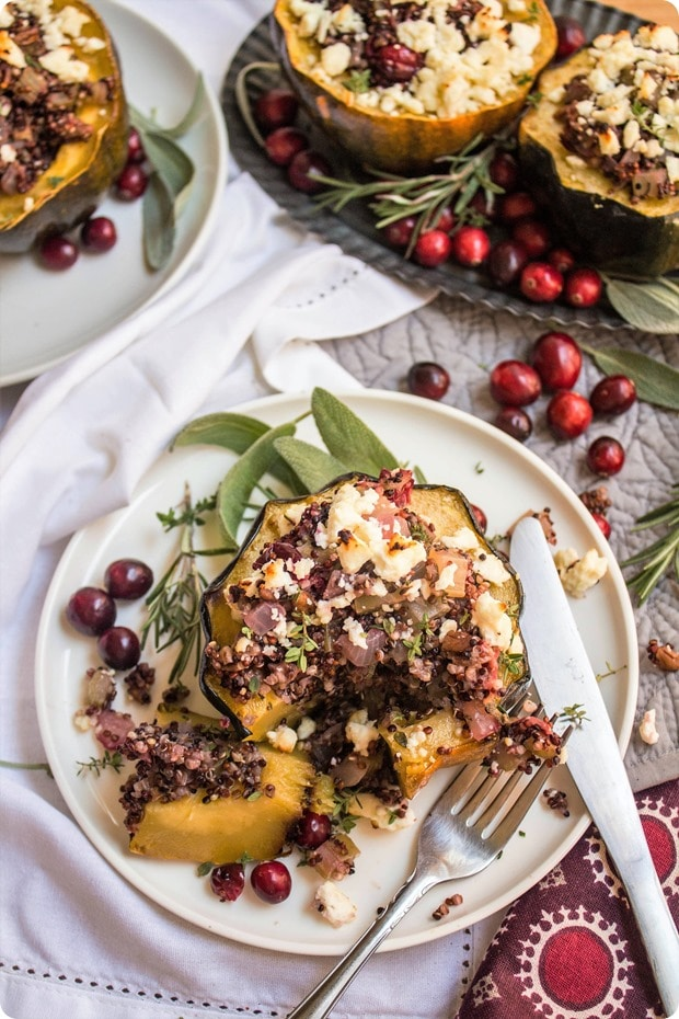 stuffed acorn squash recipe for thanksgiving