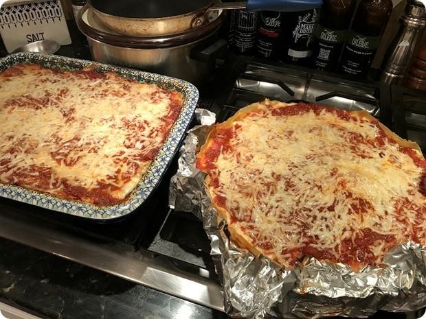 homemade sausage lasagna