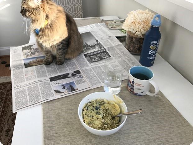 healthy microwave breakfast