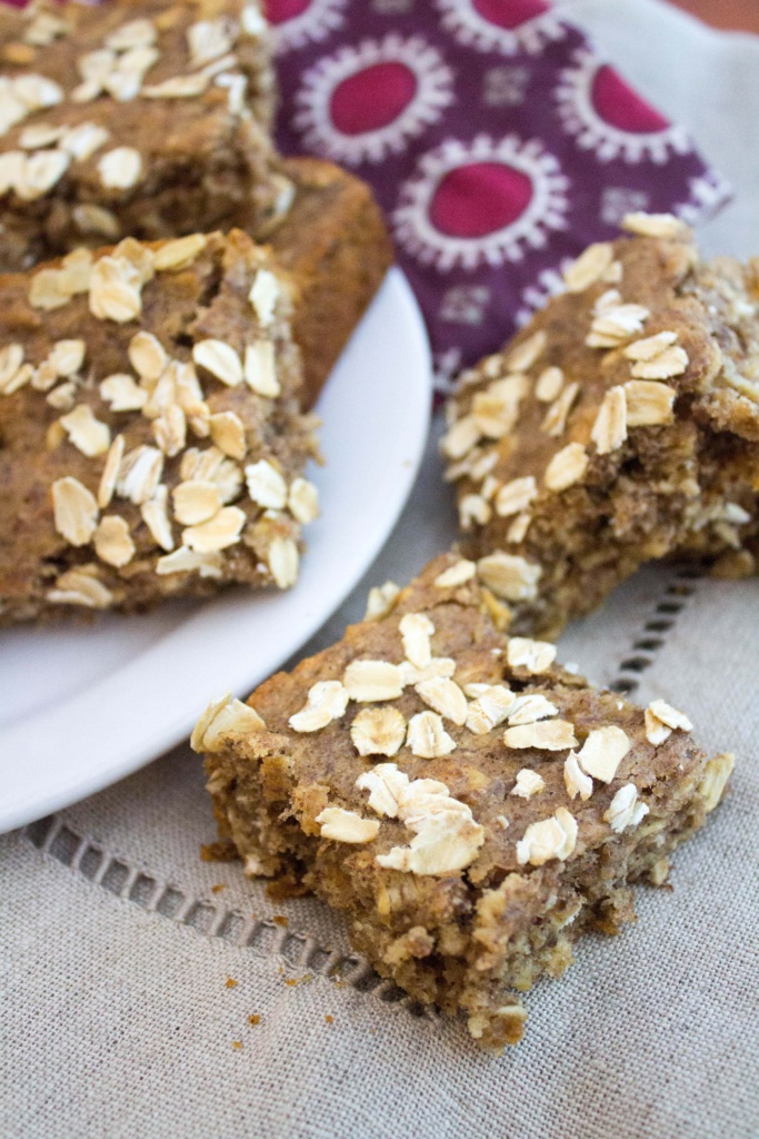 almond butter banana bars
