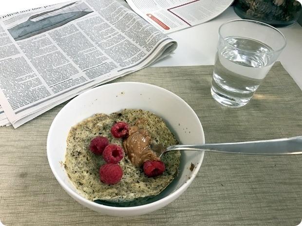 flour free breakfast pancake microwave