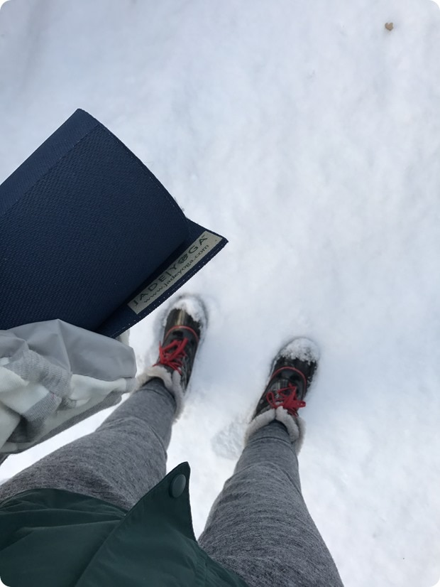 hot yoga in snow