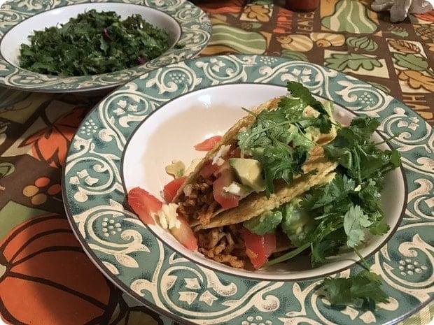 homemade taco night healthy