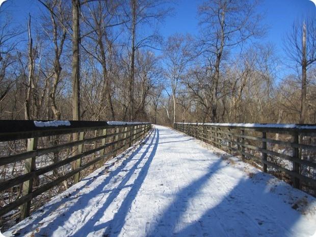 snowy run capital crescent trail