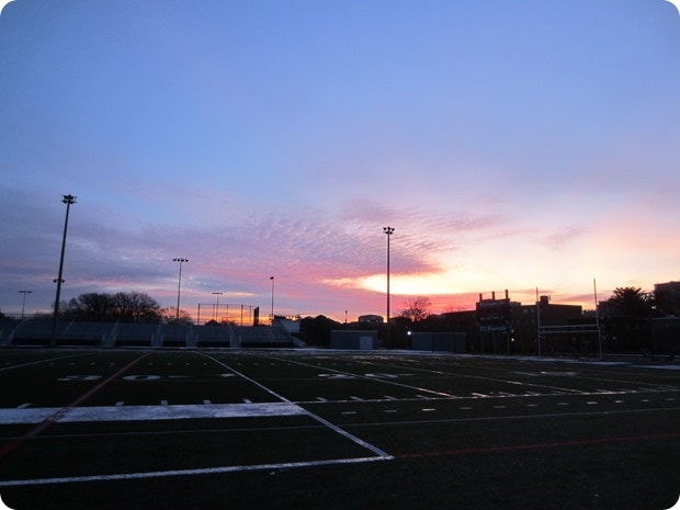 sunrise track workout winter arlington va