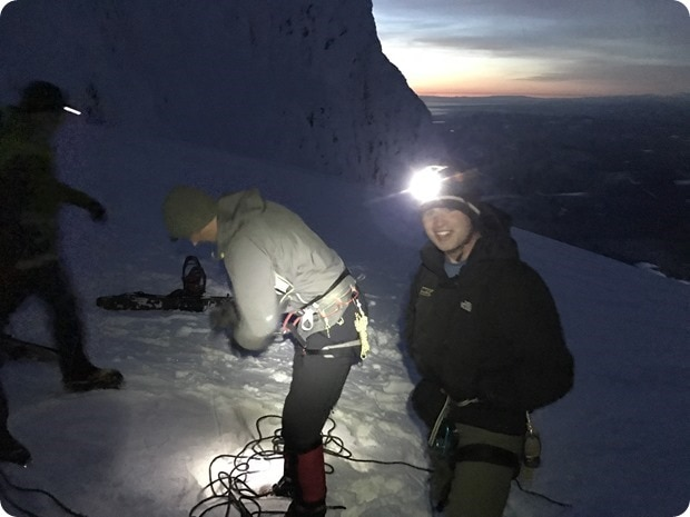 climbing mt hood in winter