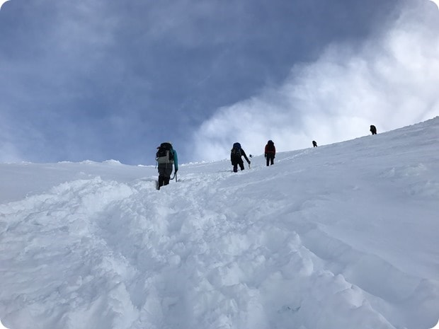 final ascent mt hood summit winter