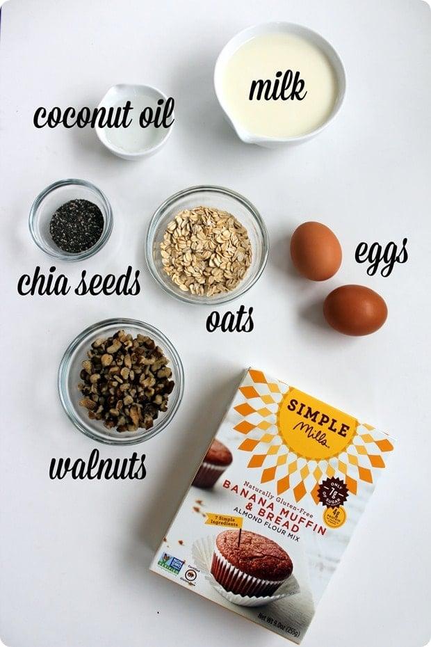healthy gluten free banana muffins ingredients