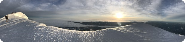 mt hood summit sunrise panorama