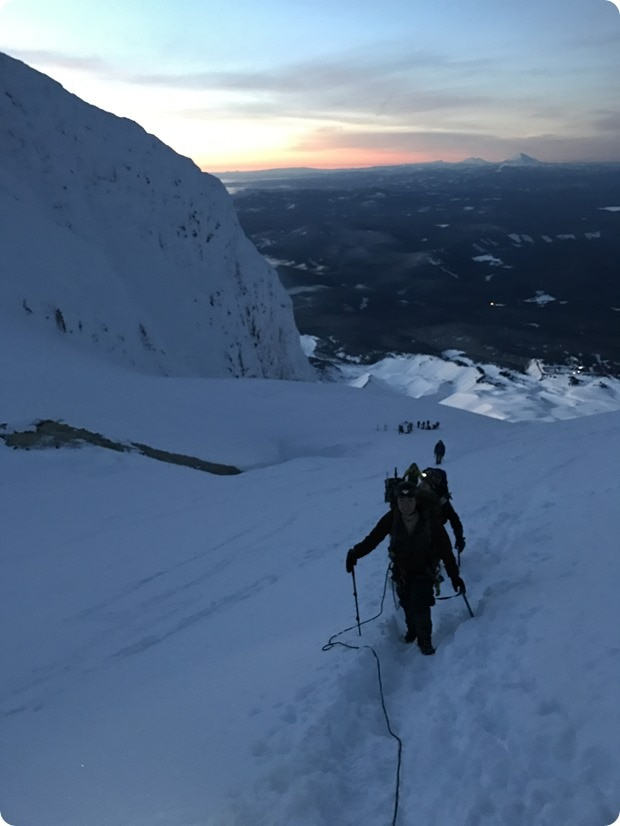 mt hood winter climb