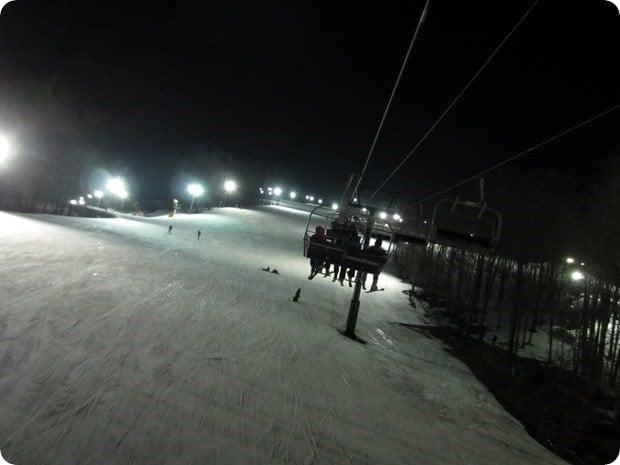 night skiing whitetail