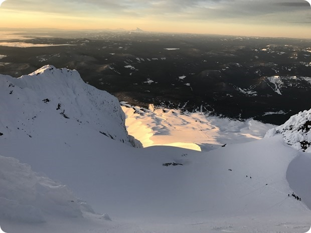 sunrise on mt hood climb