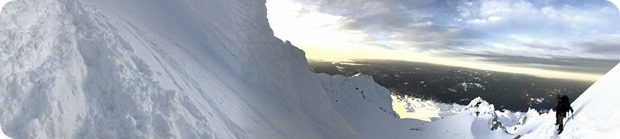 sunrise panorama shot mt hood