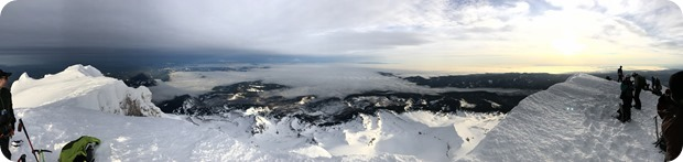 view from the top of mt hood in winter
