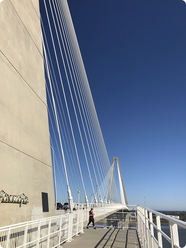 arthur j ravenal bridge biking charleston