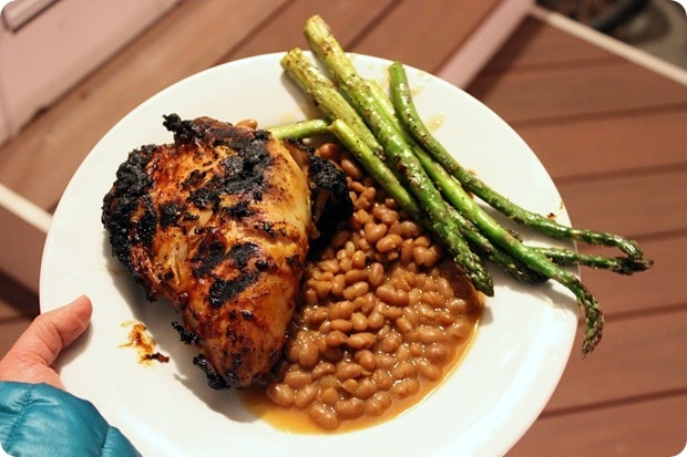 grilled chicken baked beans