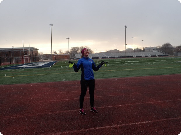 snow track workout