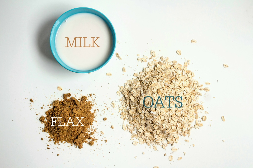 basic overnight oats ingredients