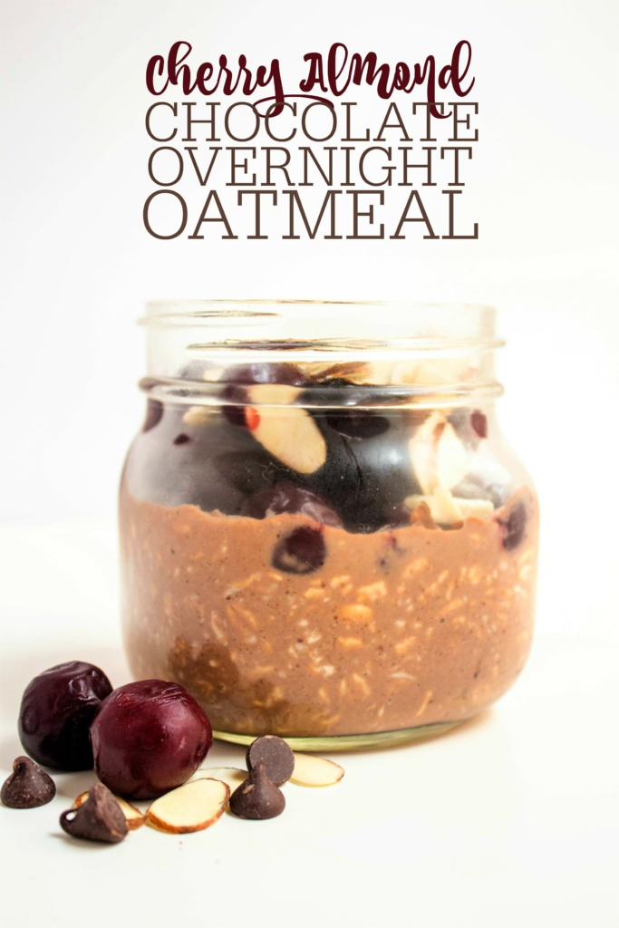 cherry almond chocolate overnight oatmeal