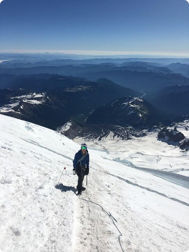 mt rainier summit climb descent 2