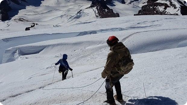 mt rainier summit climb descent 3