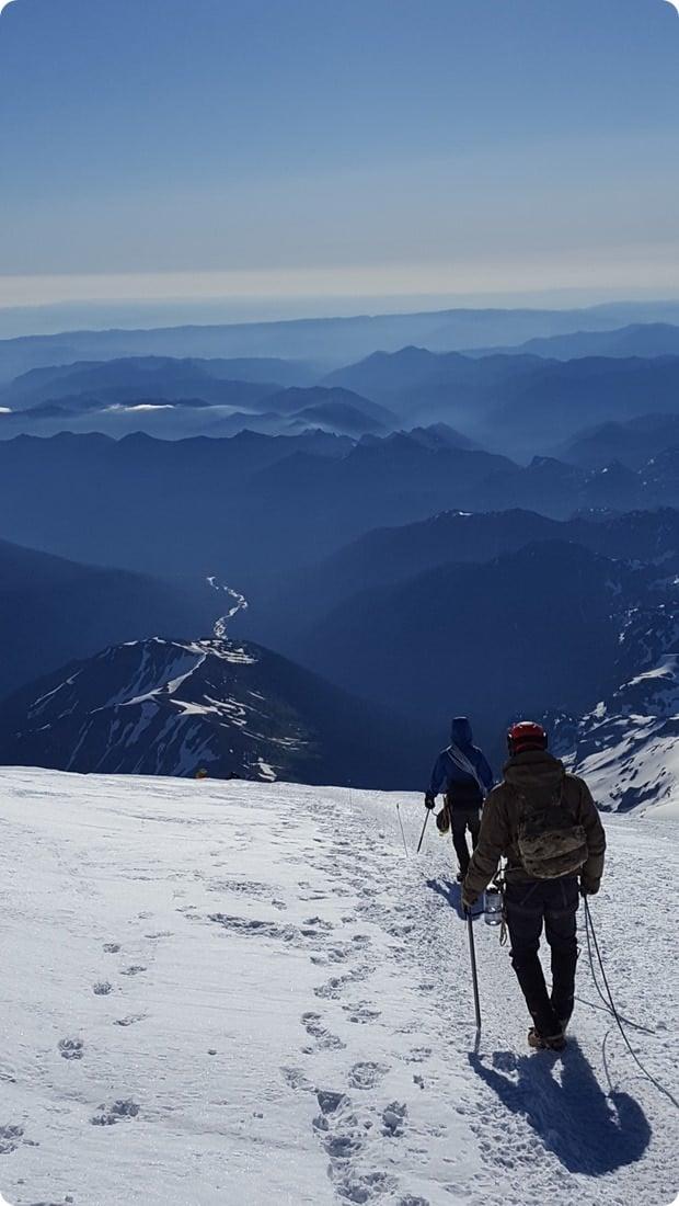 mt rainier summit climb descent