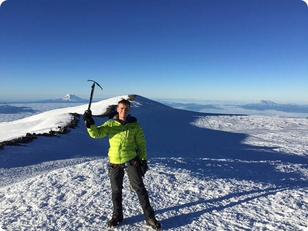 mt rainier summit climb success