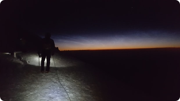 mt rainier summit hike dark