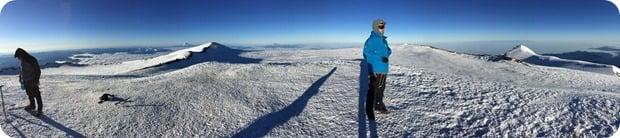 mt rainier summit panorama view 2