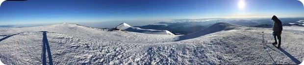 mt rainier summit panorama view
