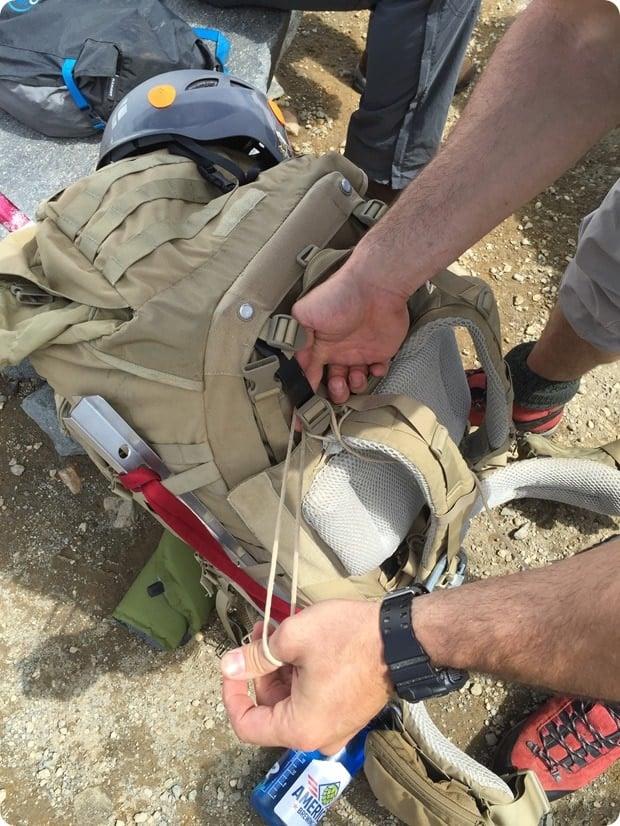 repair a climbing bag with a parachute cord rainier