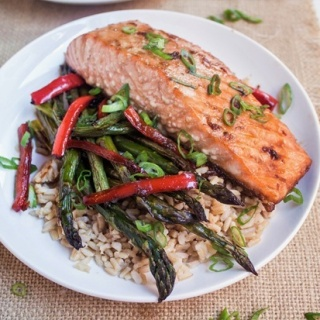 Sheet Pan Asian Salmon with Veggies