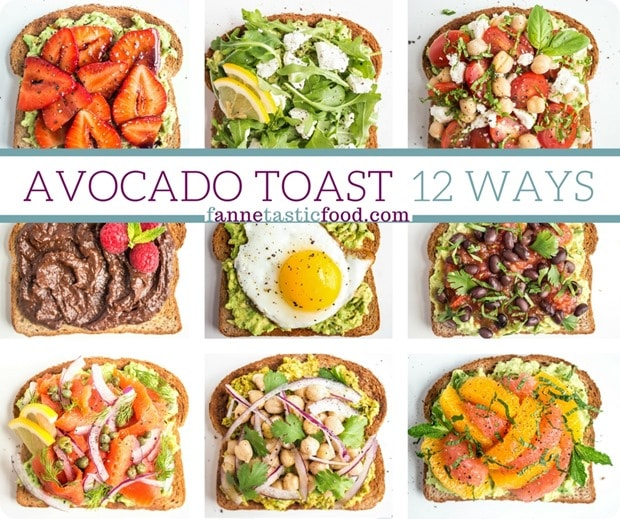 Avocado toast 12 ways facebook