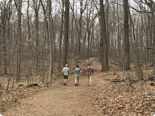 hiking at scott's run nature preserve