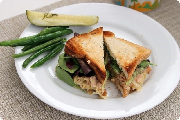 tuna hummus sauerkraut sandwich