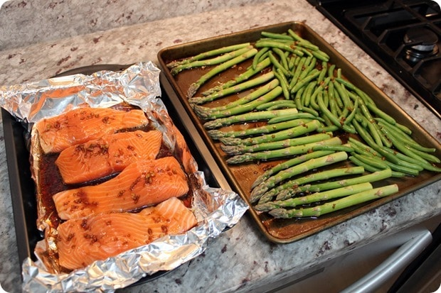sheet pan salmon with veggies