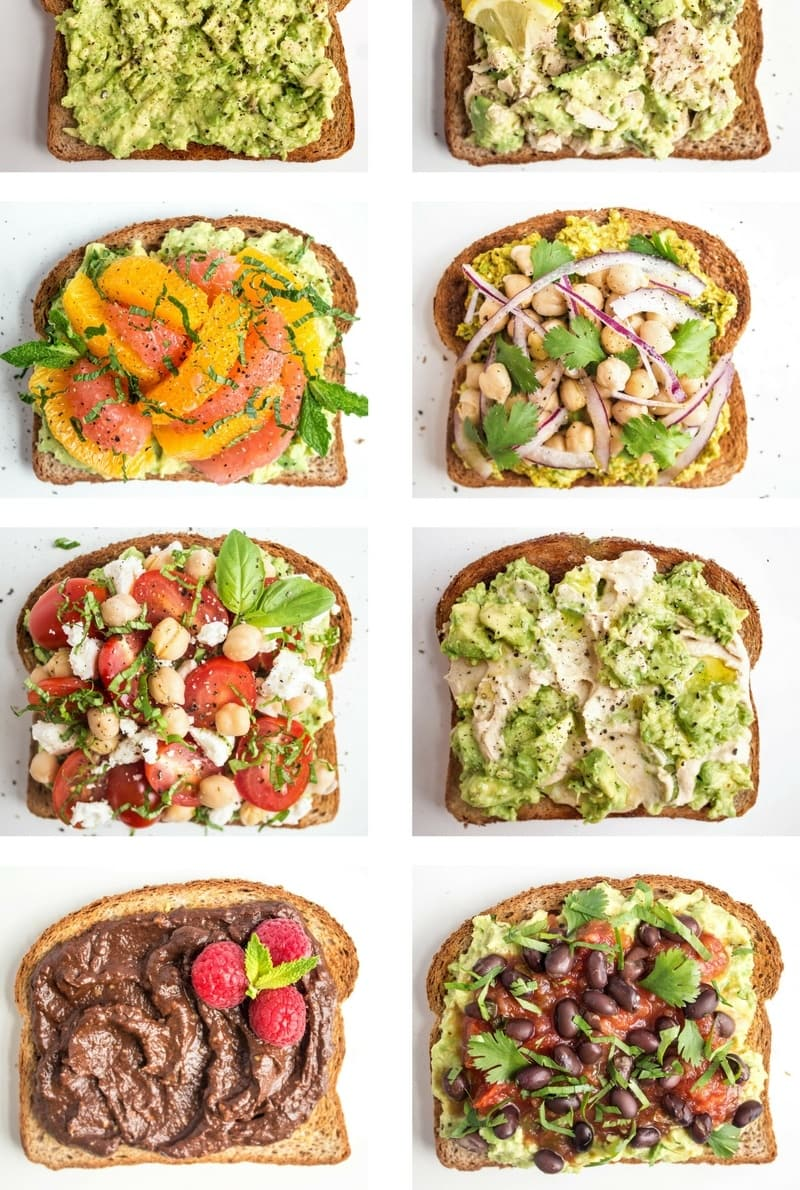 avocado toast 12 ways