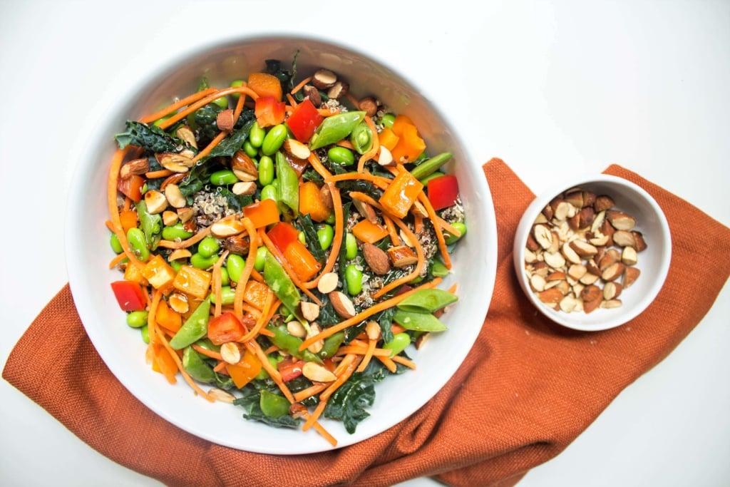 asian grain salad bowl