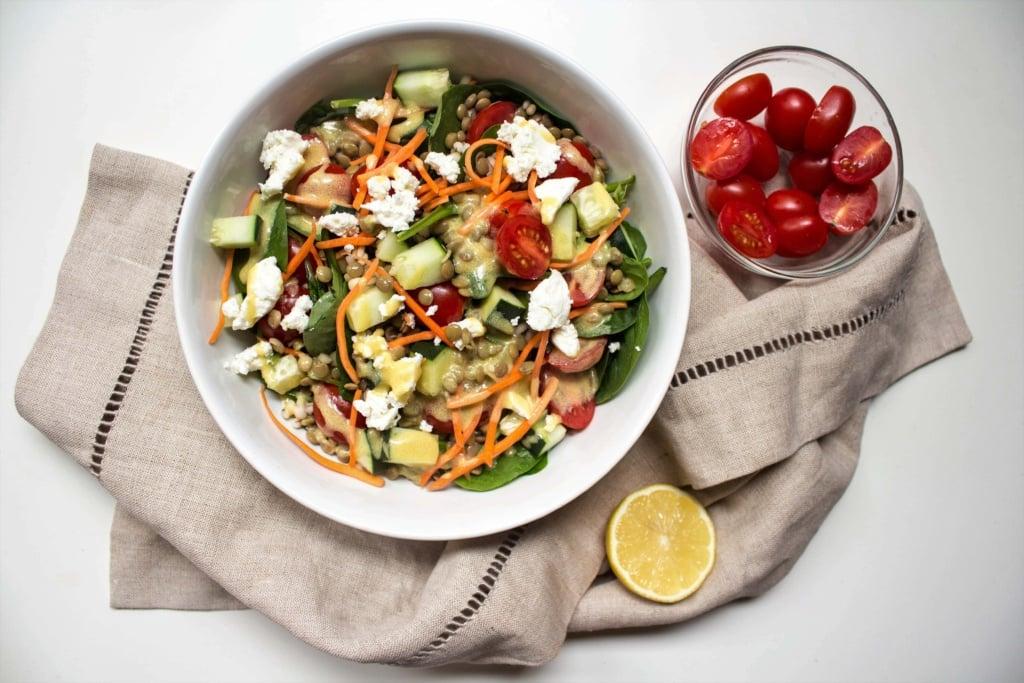 lentil grain salad bowl