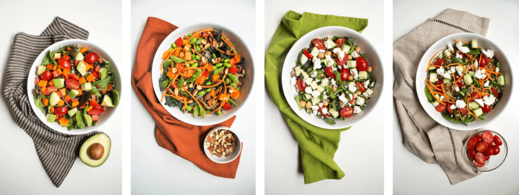 healthy mix and match salad bowls