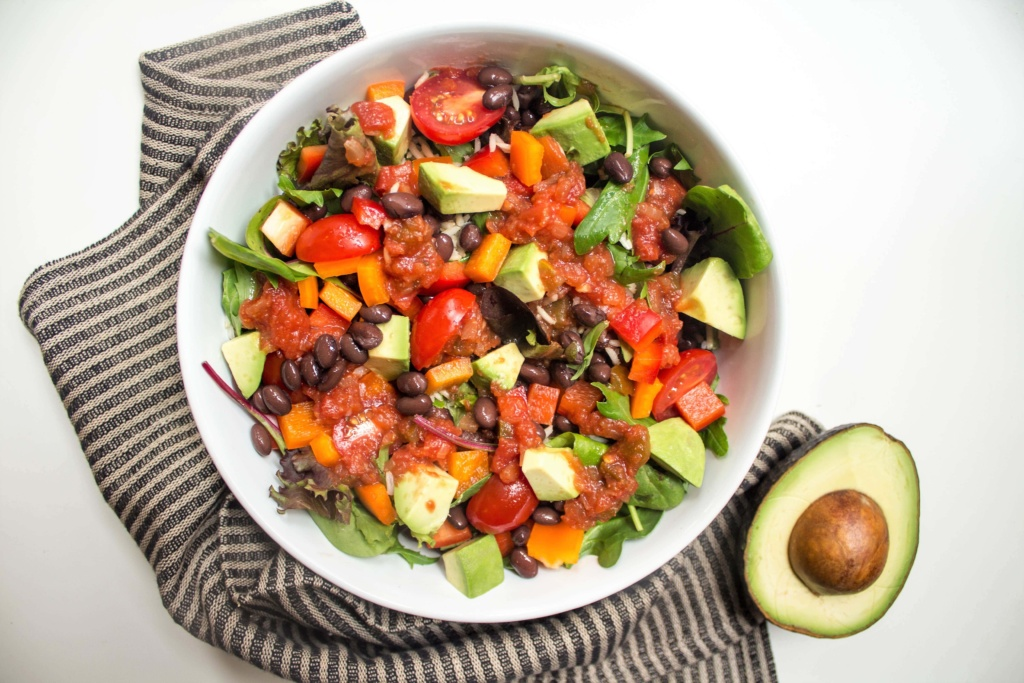mexican grain salad bowl