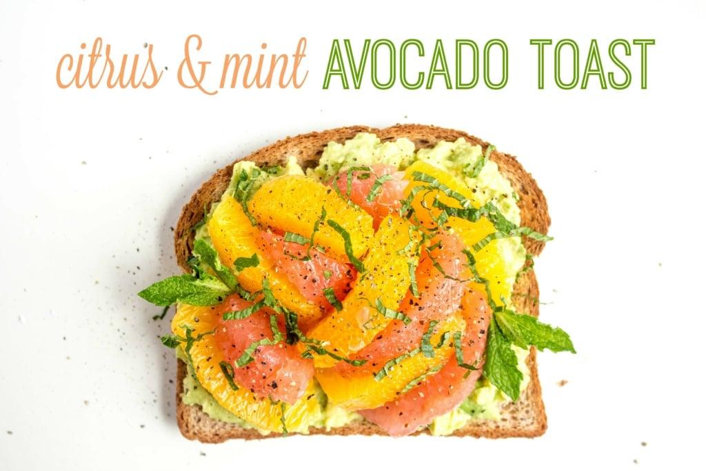 salty sweet avocado toast
