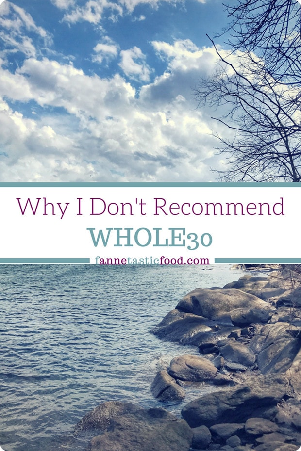 why i don't recommend whole30