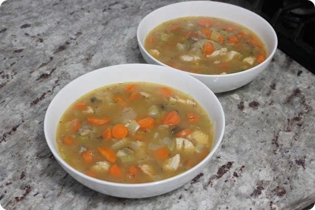 homemade chicken veggie soup