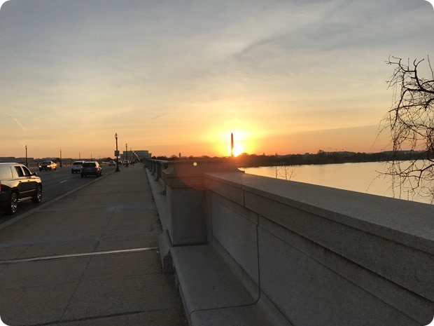 memorial bridge sunrise